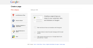 Google+ Brand Page Creation